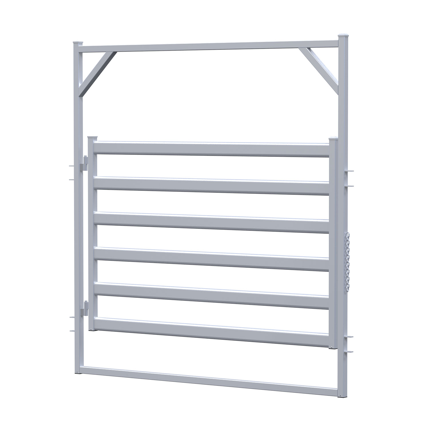 2.1m Calf Rail Gate In Frame