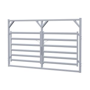 4.2m Cattle Rail Double Gate In Frame